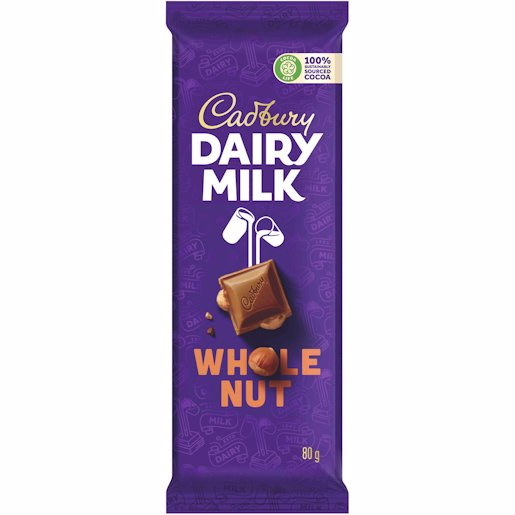 CADBURY WHOLE NUT SLAB 80GR