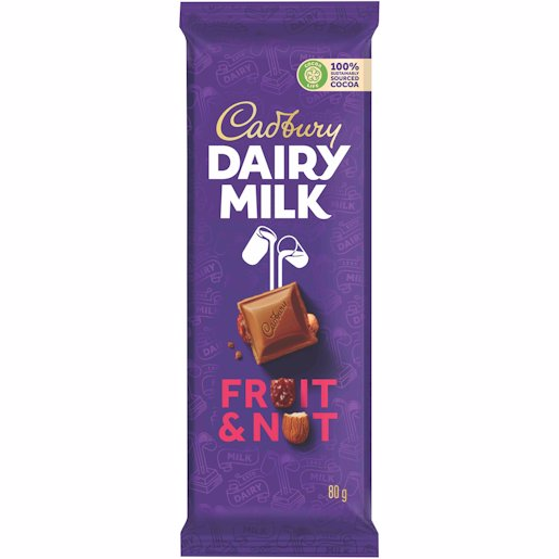 CADBURY SLAB FRUIT & NUT 80GR