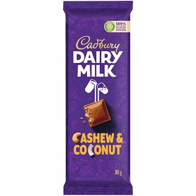 CADBURY CASHEW & COCONUT CHOCOLATE SLAB 80G