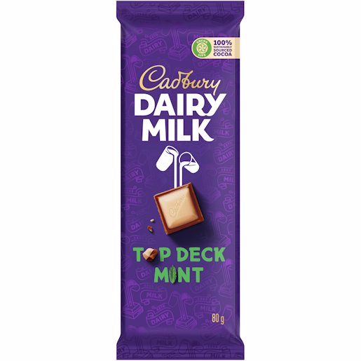 CADBURY SLAB TOP DECK MINT 80GR