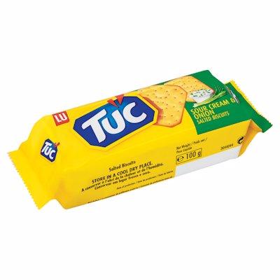 TUC CRACKERS SOUR CREAM & ONION 100G