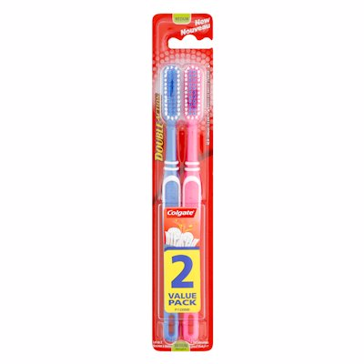 COLGATE DOUBLE ACTION 2 VALUE/P TOOTHBRUSH 2'S