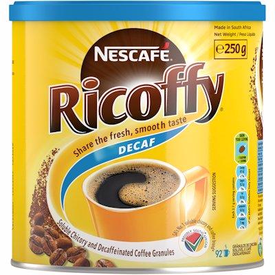 RICOFFY CAFFEINE FREE CAN 250GR