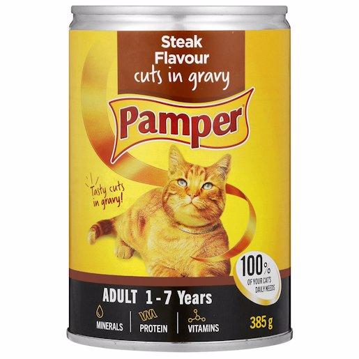 FRISKIES PAMPER GRV+STK 385GR