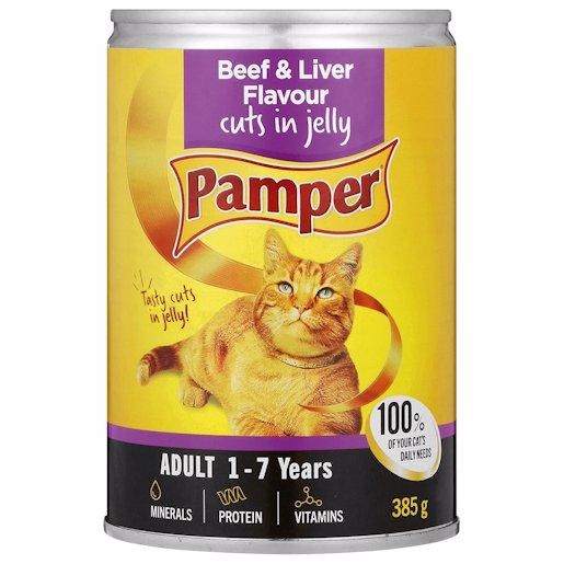 FRISKIES PAMPER BEEF+LVR 385GR