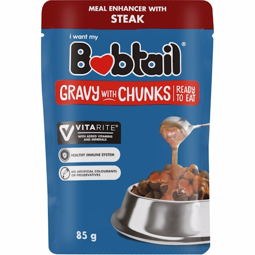 BOBTAIL GRVY/CHNKS STEAK 85GR