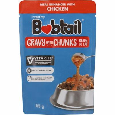 BOBTAIL GRAVY WITH CHUNKS CHICKEN FLAVOUR 85G