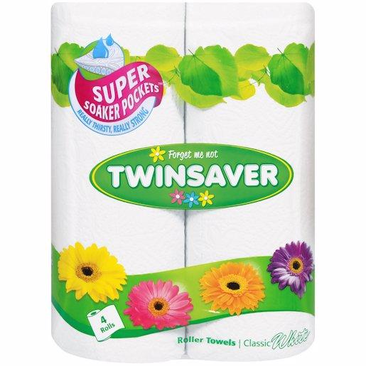 T/SAVER R/TOWEL CL WHT 4'S