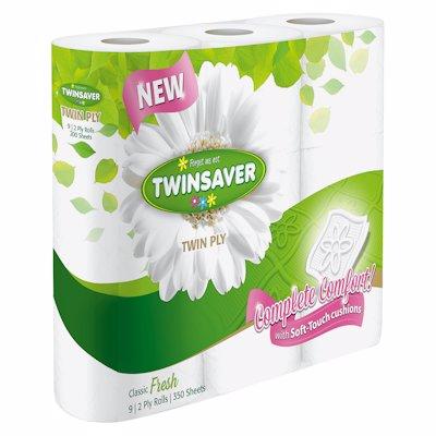 TWINSAVER LUXURY 2PLY WHITE 9'S