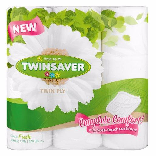 TWINSOFT LUXURY WHITE 2PLY (MI 9'S