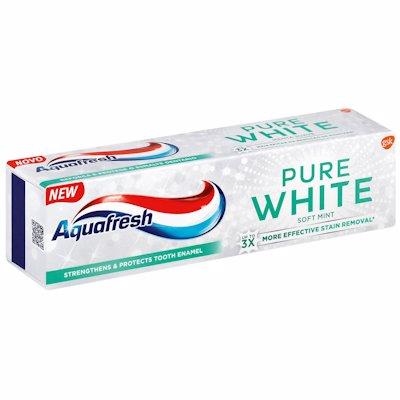 AQUAFRESH PURE WHITE SOFT MINT 75ML