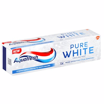 AQUAFRESH PURE WHITE TINGLING MINT 75ML