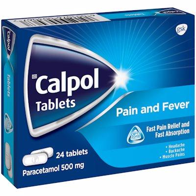 CALPOL TABLETS PAIN RELIEF 24'S