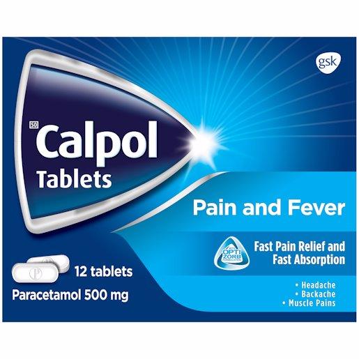 CALPOL TABS PAIN RELIEF 12'S