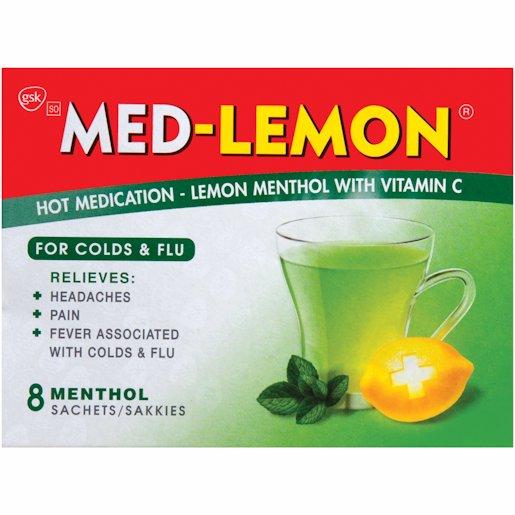 MED LEMON MENTHOL 8'S