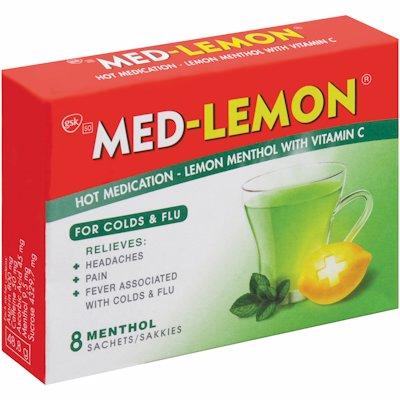 MED-LEMON LEMON MENTHOL 8'S