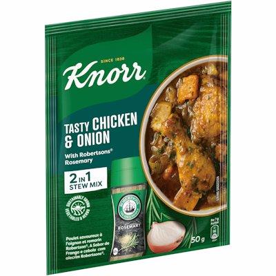 KNORR TASTY CHICKEN & ONION 2 IN 1 STEW MIX 50GR