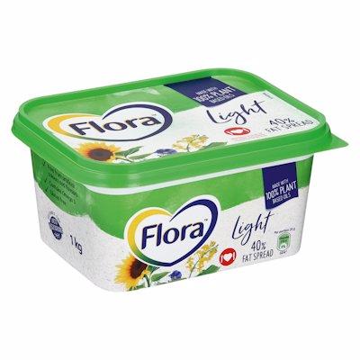 FLORA LIGHT 40%FAT TUB 1KG