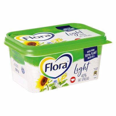 FLORA LIGHT 40% FAT TUB 500GR