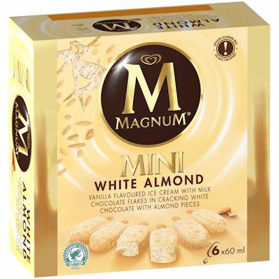 MAGNUM MINI WHITE ALMOND 6'S