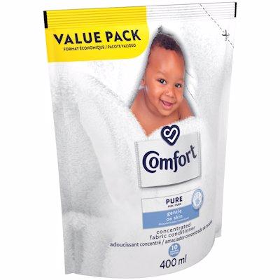 COMFORT FABRIC CONDITIONER PURE VALE PACK 400ML