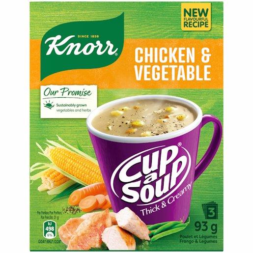 CUP A SOUP TH&CR CHICK&VEG 3'S