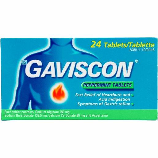 GAVISCON TAB PEPPERMINT 24'S