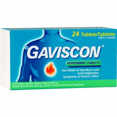 GAVISCON PEPPERMINT TABLETS 24'S