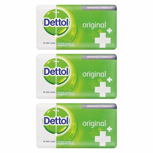 DETTOL SOAP ORIGINAL 150G 3'S