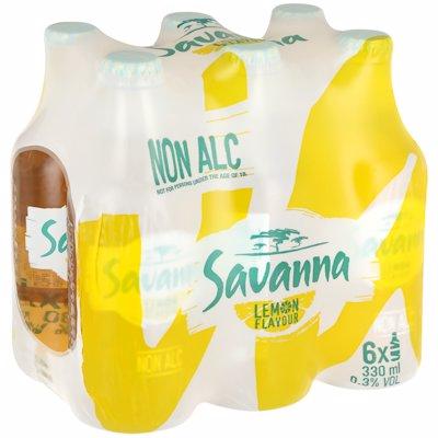 SAVANNA LEMON NON-ALCOHOLIC 6 PACK 330ML
