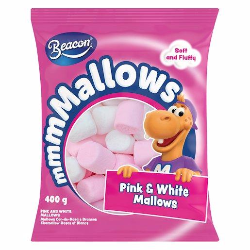PINK & WHITE MALLOWS 400GM