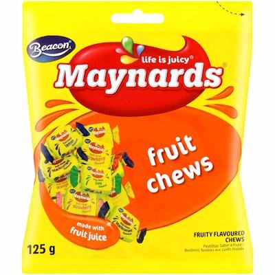 MAYNARDS FRUIT CHEWS 125G