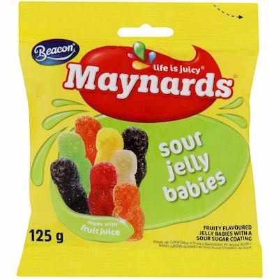 MAYNARDS SOURS JELLY BABIES 125GR
