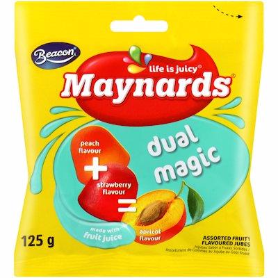 MAYNARDS DUAL MAGIC ASSORTED FLAVOURED 125G