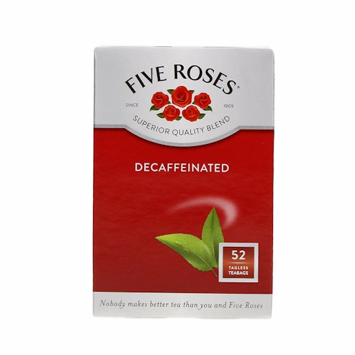 FIVE ROSES TEA DECAFFEINATED 50's