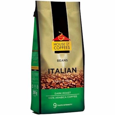 HOUSE OF COFFEES BEANS ITALIAN DARK ROAST 250G