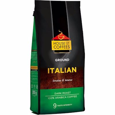 HOUSE OF COFFEES GROUND ITALIAN DARK ROAST 250G