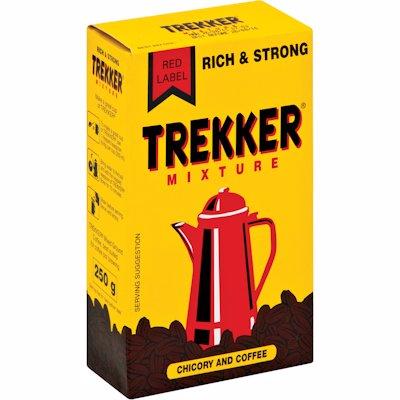TREKKER RED LABEL COFFEE & CHICORY MIXTURE 250G