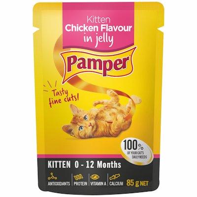 PAMPER KITTEN CHICKEN FLAVOUR IN JELLY 85G