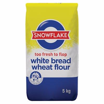 SNOWFLAKE WHITE BREAD WHEAT FLOUR 5KG