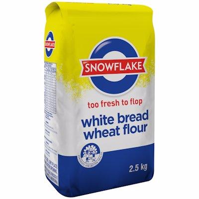 SNOWFLAKE WHITE BREAD WHEAT FLOUR 2.5KG