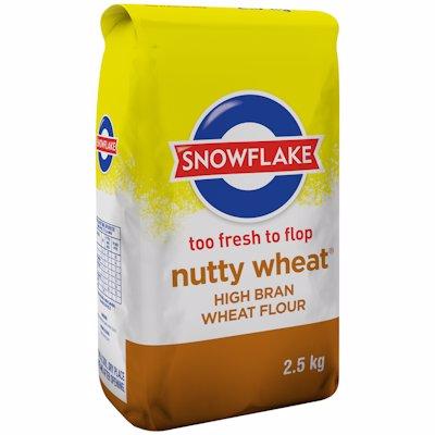 SNOWFLAKE NUTTY WHEAT HIGH BRAN WHEAT FLOUR 2.5KG