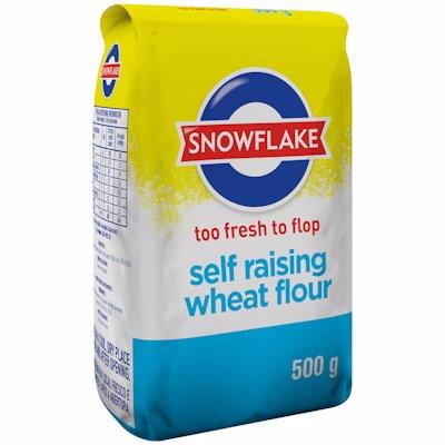 SNOWFLAKE SELF RAISING WHEAT FLOUR 500G