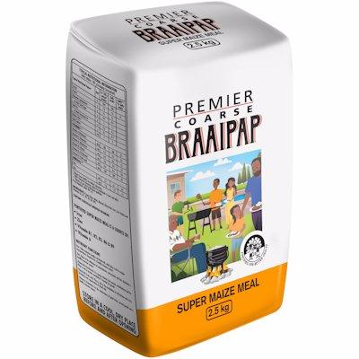 PREMIER COARSE BRAAIPAP SUPER MAIZE MEAL 2.5KG