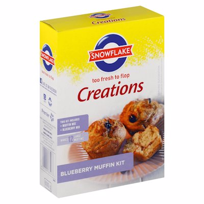 SNOWFLAKE CREATIONS BLUEBERRY MUFFIN KIT 600G