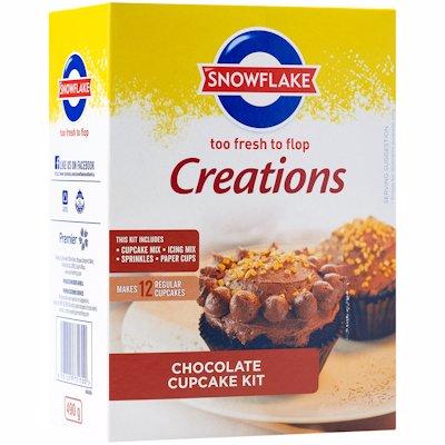 SNOWFLAKE CREATIONS CHOCOLATE CUPCAKE KIT 490G