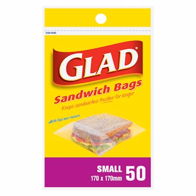 GLAD SANDWICH BAGS SMALL 50'S