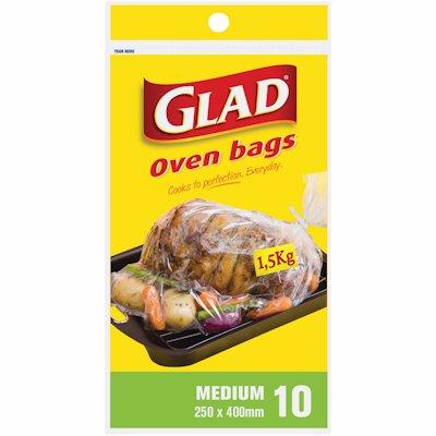 GLAD OVEN BAGS MEDIUM 10'S