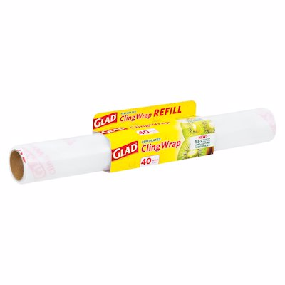 GLAD CLING WRAP PERFORATED REFILL 1'S