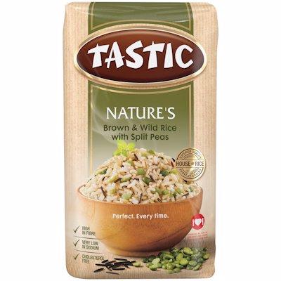 TASTIC NATURE'S BROWN & WILD RICE 1KG